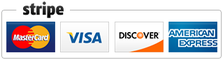 We accept Mastercard, Visa, Discover, and American Express